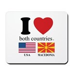 USA-MACEDONIA Mousepad
