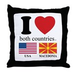 USA-MACEDONIA Throw Pillow