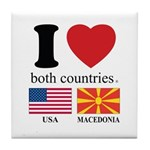 USA-MACEDONIA Tile Coaster