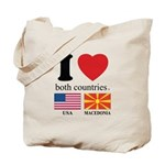USA-MACEDONIA Tote Bag