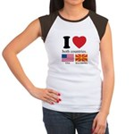USA-MACEDONIA Women's Cap Sleeve T-Shirt