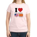 USA-MACEDONIA Women's Light T-Shirt