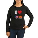 USA-MACEDONIA Women's Long Sleeve Dark T-Shirt