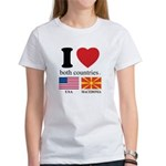 USA-MACEDONIA Women's T-Shirt