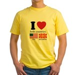 USA-MACEDONIA Yellow T-Shirt