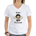 Happy Passover Girl Women's V-Neck T-Shirt