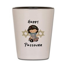 Happy Passover Girl Shot Glass