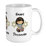 Happy Passover Girl Large Mug