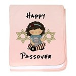 Happy Passover Girl baby blanket