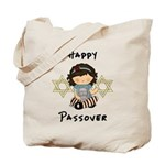 Happy Passover Girl Tote Bag