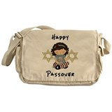 Happy Passover Girl Messenger Bag