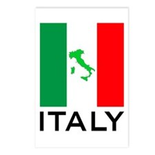 italy flag 01 Postcards (Package of 8)