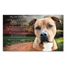 """Why God Made Dogs"" AmStaff Decal"