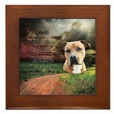 """Why God Made Dogs"" AmStaff Framed Tile"