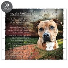 """Why God Made Dogs"" AmStaff Puzzle"