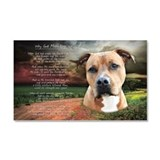 """Why God Made Dogs"" AmStaff Car Magnet 20 x 12"
