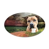 """Why God Made Dogs"" AmStaff 22x14 Oval Wall Peel"