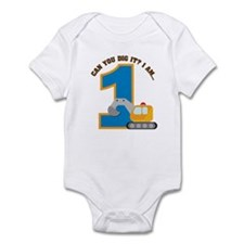 Construction Digger 1st Birth Infant Bodysuit