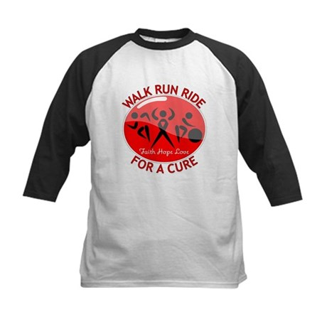 Stroke Disease Walk Run Ride Kids Baseball Jersey