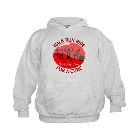 Stroke Disease Walk Run Ride Kids Hoodie