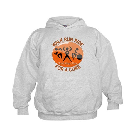 Multiple Sclerosis Walk Run Kids Hoodie