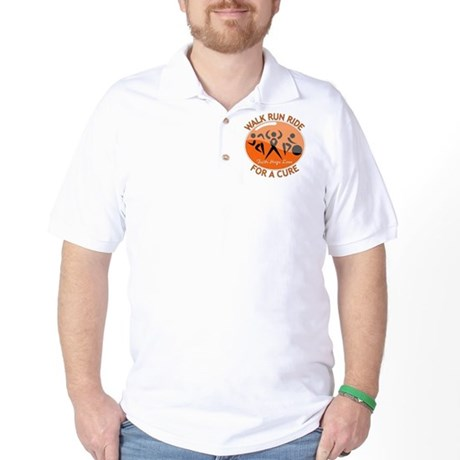 Multiple Sclerosis Walk Run Golf Shirt