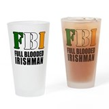 Full Blooded Irishman Drinking Glass