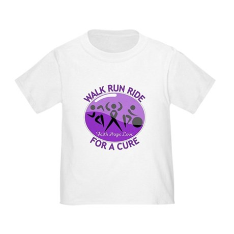 Alzheimers Disease Walk Run Ride Toddler T-Shirt