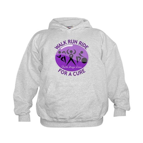 Alzheimers Disease Walk Run Ride Kids Hoodie