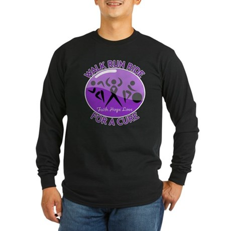 Alzheimers Disease Walk Run Ride Long Sleeve Dark