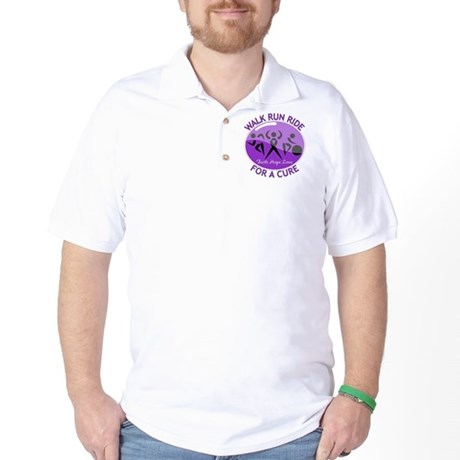 Alzheimers Disease Walk Run Ride Golf Shirt