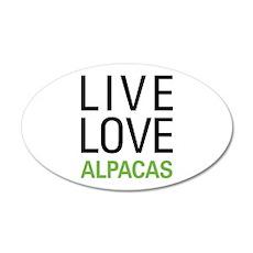 Live Love Alpacas 20x12 Oval Wall Decal