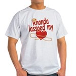 Rhonda Lassoed My Heart Light T-Shirt