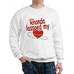 Rhonda Lassoed My Heart Sweatshirt