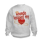 Rhonda Lassoed My Heart Kids Sweatshirt