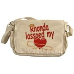 Rhonda Lassoed My Heart Messenger Bag