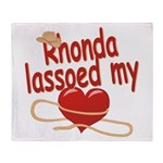 Rhonda Lassoed My Heart Throw Blanket