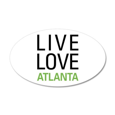Live Love Atlanta 38.5 x 24.5 Oval Wall Peel