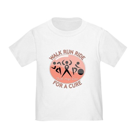 Uterine Cancer Walk Run Ride Toddler T-Shirt