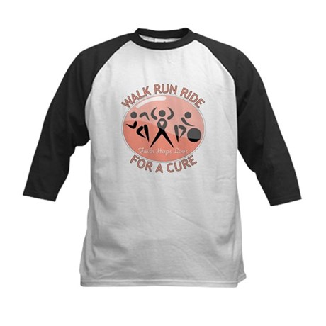 Uterine Cancer Walk Run Ride Kids Baseball Jersey