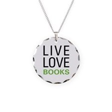 Live Love Books Necklace