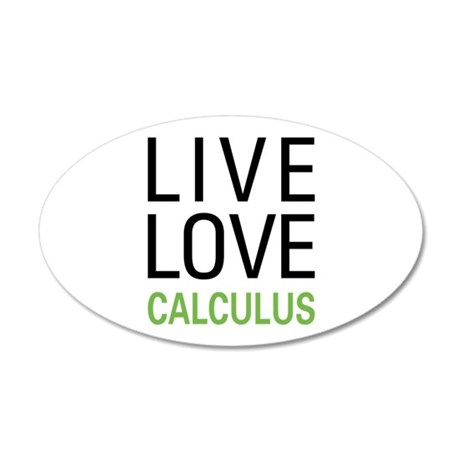 Live Love Calculus 20x12 Oval Wall Decal