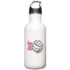 I Know I Hit Like A Girl Water Bottle