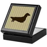 Long Haired Dachshund Keepsake Box