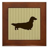 Long Haired Dachshund Framed Tile