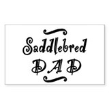 Saddlebred DAD Decal