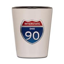 Interstate 90 - Ohio Shot Glass
