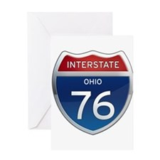 Interstate 76 - Ohio Greeting Card
