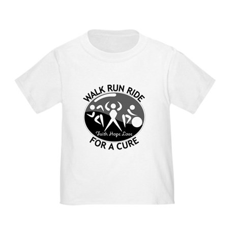 Skin Cancer Walk Run Ride Toddler T-Shirt