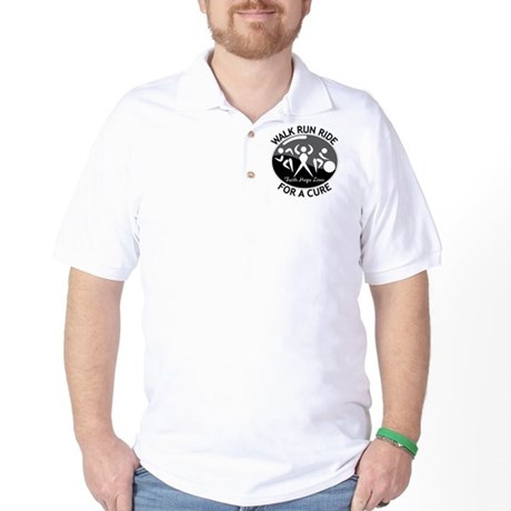 Skin Cancer Walk Run Ride Golf Shirt